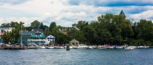 Wolfeboro, New Hampshire from the Winnipesaukee Belle